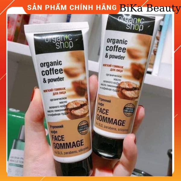 [Bika Beauty]Kem tẩy tế bào chết cho da mặt nhờn khô hỗn hợp nhạy cảm Organic Shop Organic Coffee & Powde giá rẻ