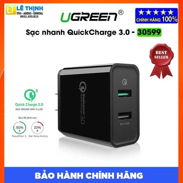 [Xả hàng] Sạc nhanh UGREEN QuickCharge 3.0 30W ( 30599-CD132) - Nguyên seal chính hãng - Bảo hành 3 tháng