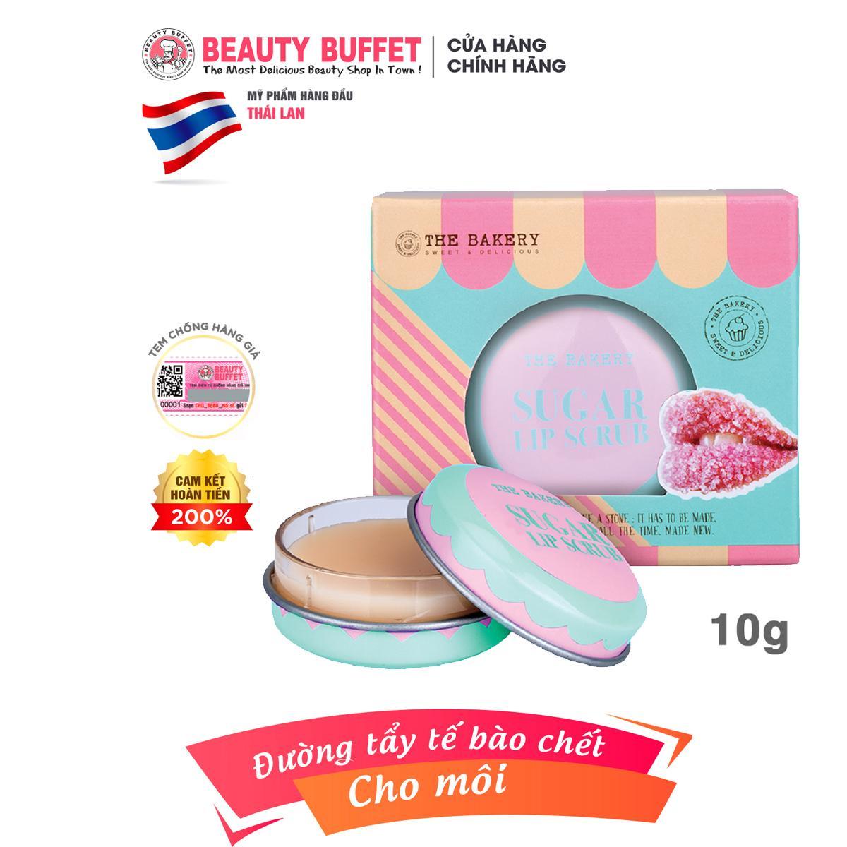 Đường tẩy tế bào chết môi The Bakery Sugar Lip Scrub 9g cao cấp