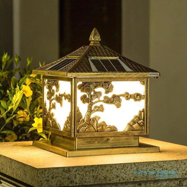 Đèn trụ cổng năng lượng mặt trời, Đèn trụ cổng phi 250, đèn trụ cổng phi 300, Đèn trụ cổng giá rẻ