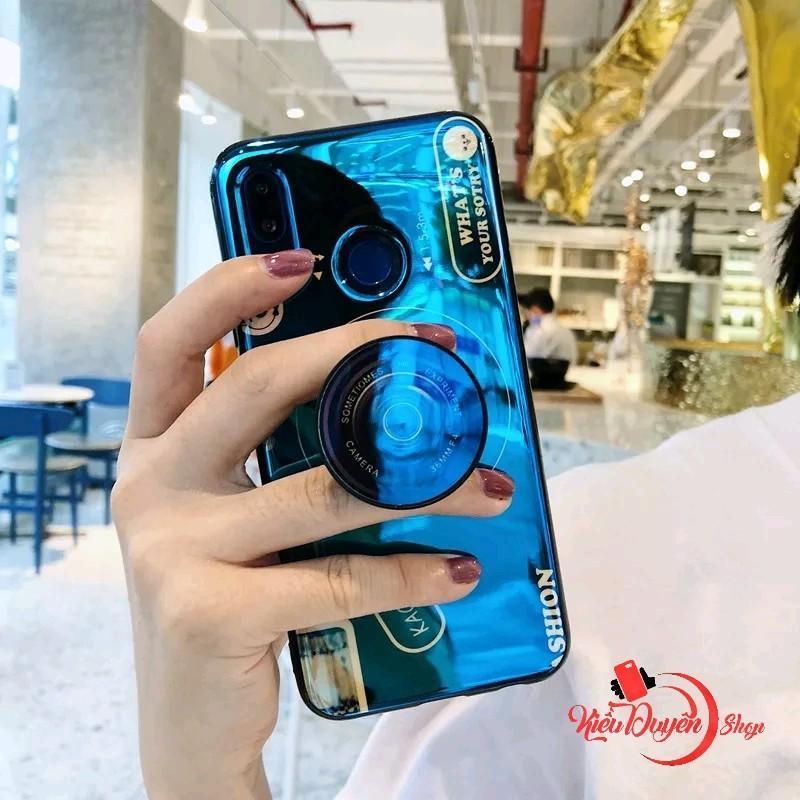 Giá Ốp lưng Huawei Y9 2019 hình máy ảnh kèm giá đỡ và dây đeo