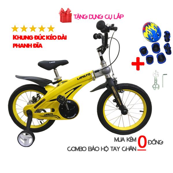 Mua Xe đạp trẻ em cao cấp LANQ FD khung hợp kim đúc liền khối cỡ 14 inch cho bé trai và bé gái từ 3 tuổi đến 7 tuổi