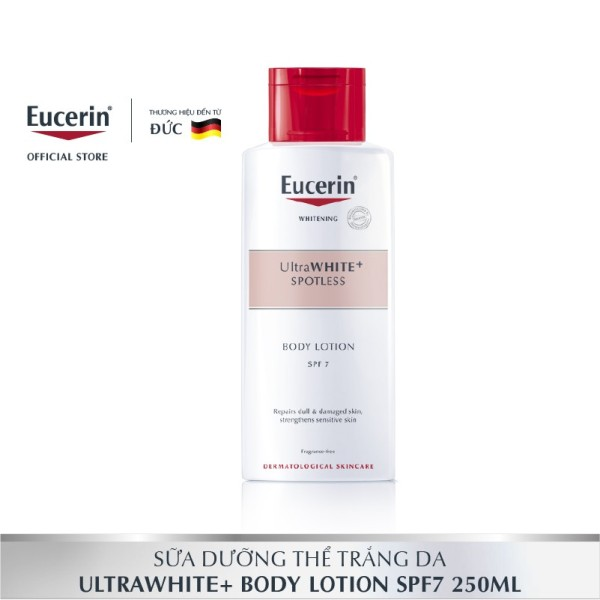 Sữa dưỡng thể trắng da Eucerin UltraWHITE+ Spotless Body Lotion SPF 7 250ml nhập khẩu