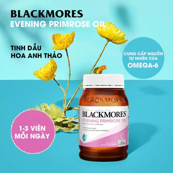 Blackmores Evening primrose oil 190v Tinh dầu hoa anh thảo Blackmore Úc, hỗ trợ cân bằng nội tiết tố nhập khẩu