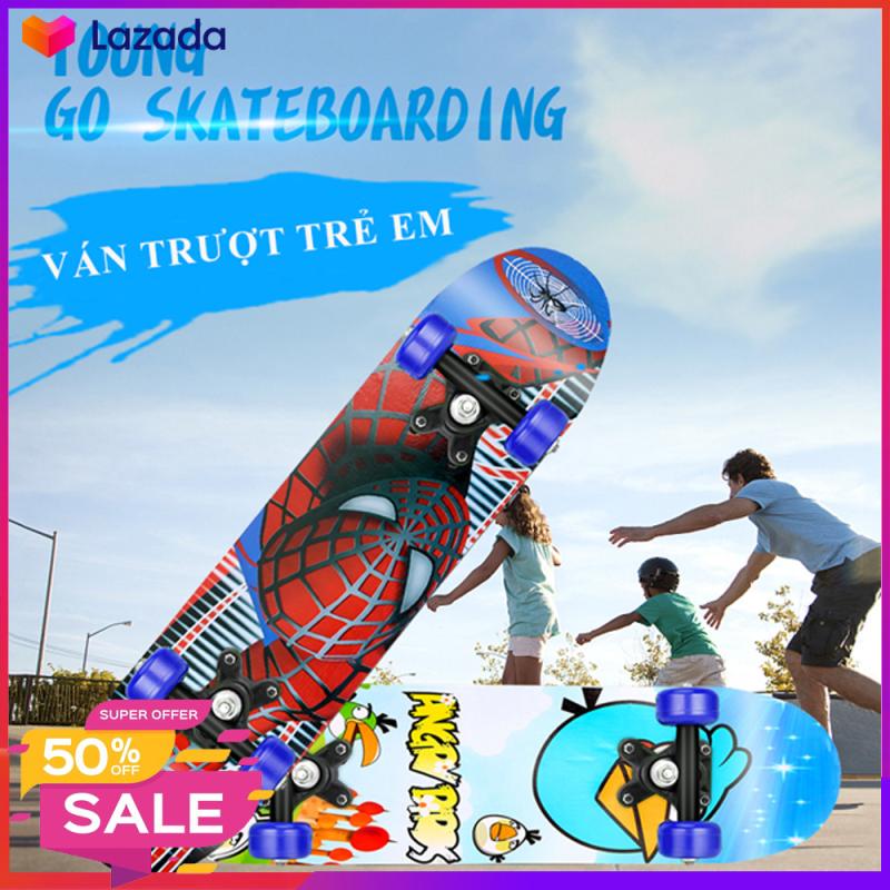 Giá bán Ván trượt trẻ em Skateboard cho trẻ từ 2- 6 tuổi, thiết kế chắc chắn, giúp bé rèn luyện sức khỏe
