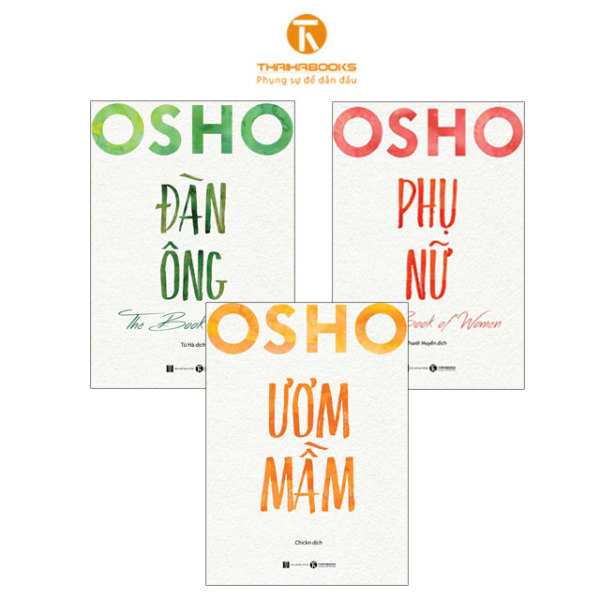 Sách - Combo 3 cuốn Osho Đàn Ông - Phụ Nữ - Ươm Mầm