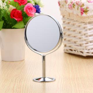 GƯƠNG TRANG ĐIỂM INOX TRÒN PHÓNG ĐẠI 2 MẶT GƯƠNG [Gương trang điểm để bàn, Gương trang điểm Inox, gương tròn 2 măt gương, gương trang điểm dễ thương] thumbnail
