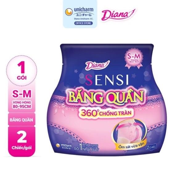 Băng vệ sinh dạng quần Diana siêu thấm size S - M gói 2 chiếc giá rẻ