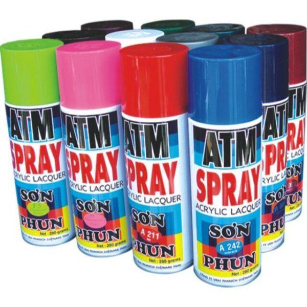Sơn xịt ATM đủ màu, ATM Spray paint ( khi mua trên 2 lọ các bạn nhớ ấn  sưu tầm mã vận chuyển phía dưới để giảm 20k ship)