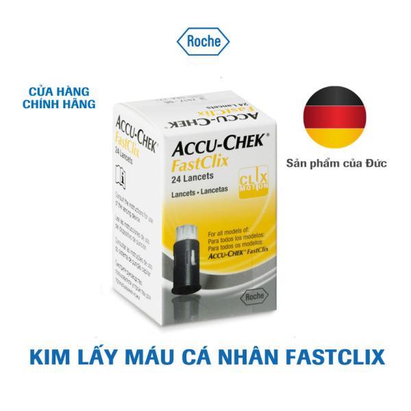 Kim lấy máu cá nhân Accu-Chek Fastclix. Hộp 24 kim