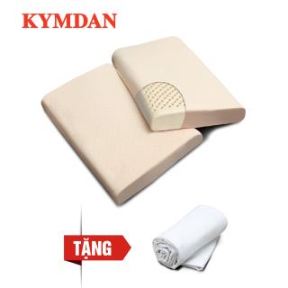Combo 2 gối cao su thiên nhiên KYMDAN Pillow PressureFree Air 60 x 38 x 8,5 cm - Tặng vỏ bọc gối thumbnail