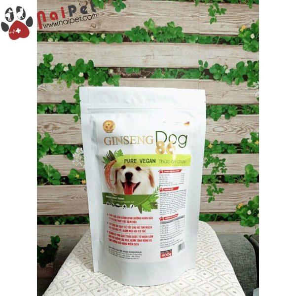 Thức Ăn Hạt Chay Cho Chó Ginseng Dog 86 Pure Vegan