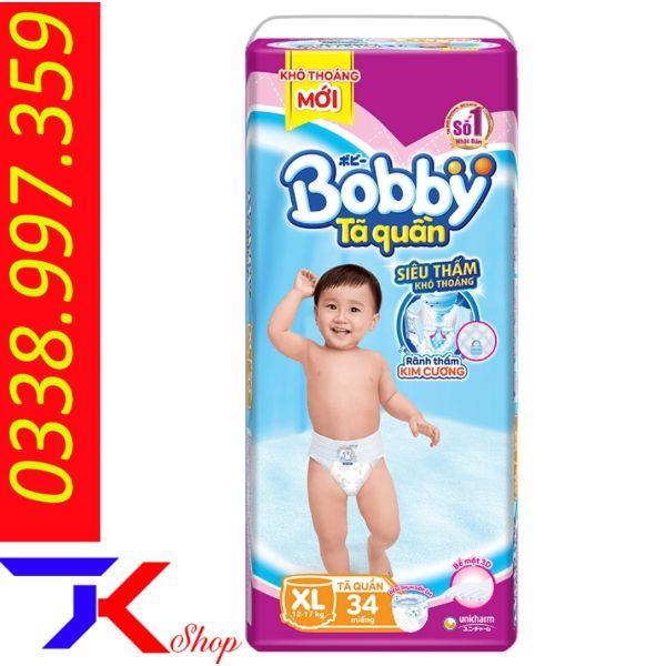 Voucher Giảm Giá Bỉm Quần Bobby đại Full Size S44-M40-L36-Xl34