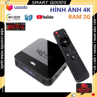 Tv box Tv box androi Tv box 4g Tv box giá rẻ Ram 2g bộ nhớ trong 16gb xem phim 4k chơi game hỗ trợ tìm kiếm giọng nói bảo hành 3 năm 1 đổi 1 trong 7 ngày thumbnail
