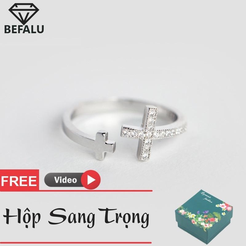 Nhẫn Nữ Dễ Thương Bạc 925 Vương Miệng Kiểu Hàn Quốc N29 Freesize- BEFALU