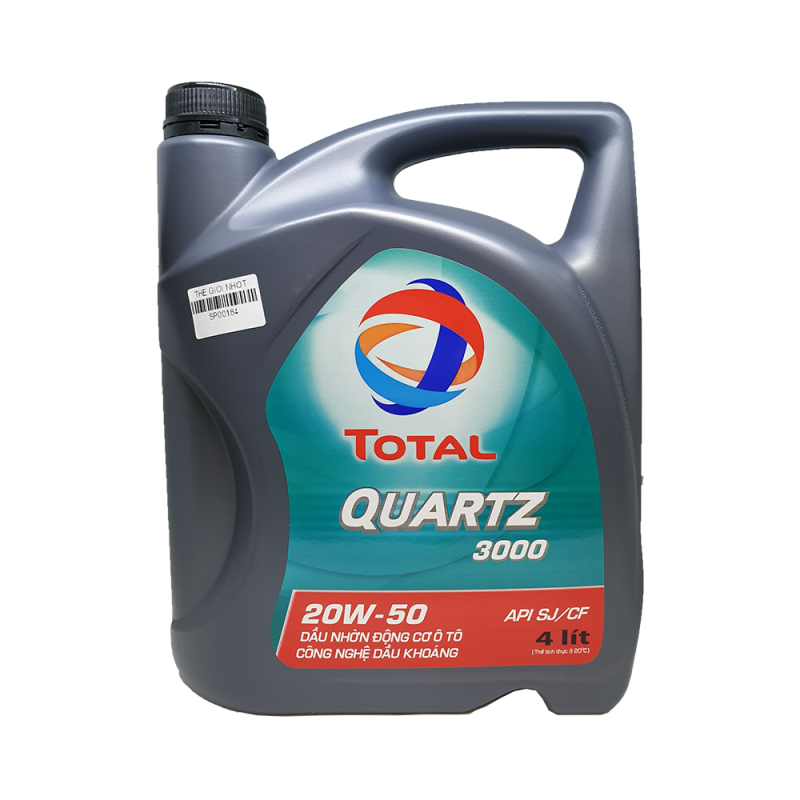 Nhớt ô tô cao cấp TOTAL QUARTZ 3000 SAE 20W50 4L