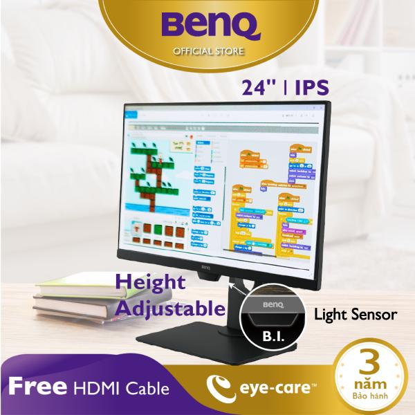 Bảng giá Bảo vệ mắt, chống sáng xanh - Màn hình máy tính BenQ GW2480T 24 inch 24 IPS 1080p thích hợp làm việc văn phòng, làm việc ở nhà work from home hiệu quả và giải trí cá nhân thoải mái Phong Vũ