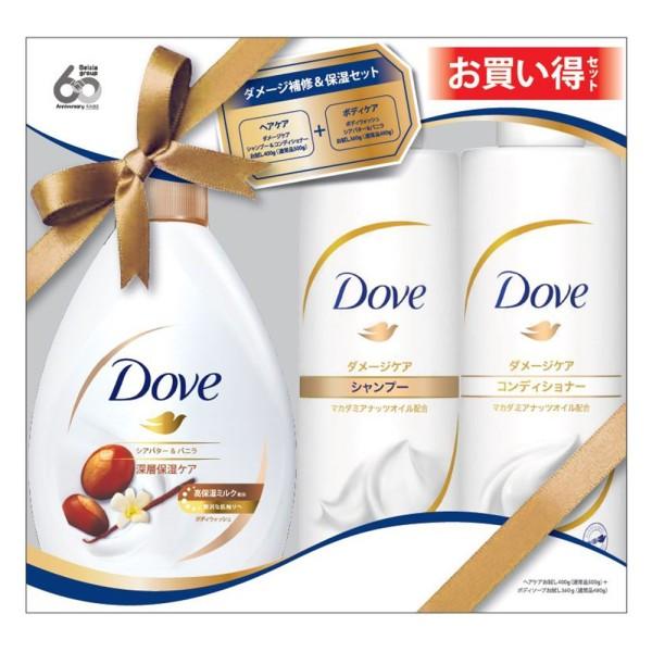 Bộ Dầu Gội, Dầu Xả Và Sữa Tắm Dove Hương Hạnh Nhân - Nhật Bản giá rẻ