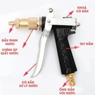 [5 IN 1] Vòi xịt tăng áp, Vòi xịt nước tưới cây, rửa xe áp lực cao kim loại (5 trong 1) thumbnail
