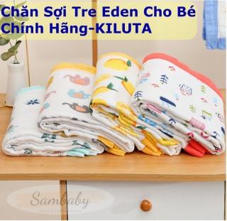 Chăn Hè Sợi Tre Eden Cho Bé-KILUTA-Mền Cho Bé-Chăn Xô 6 Lớp Siêu Mềm Bo Viền Cho Bé 120cm.120cm thumbnail