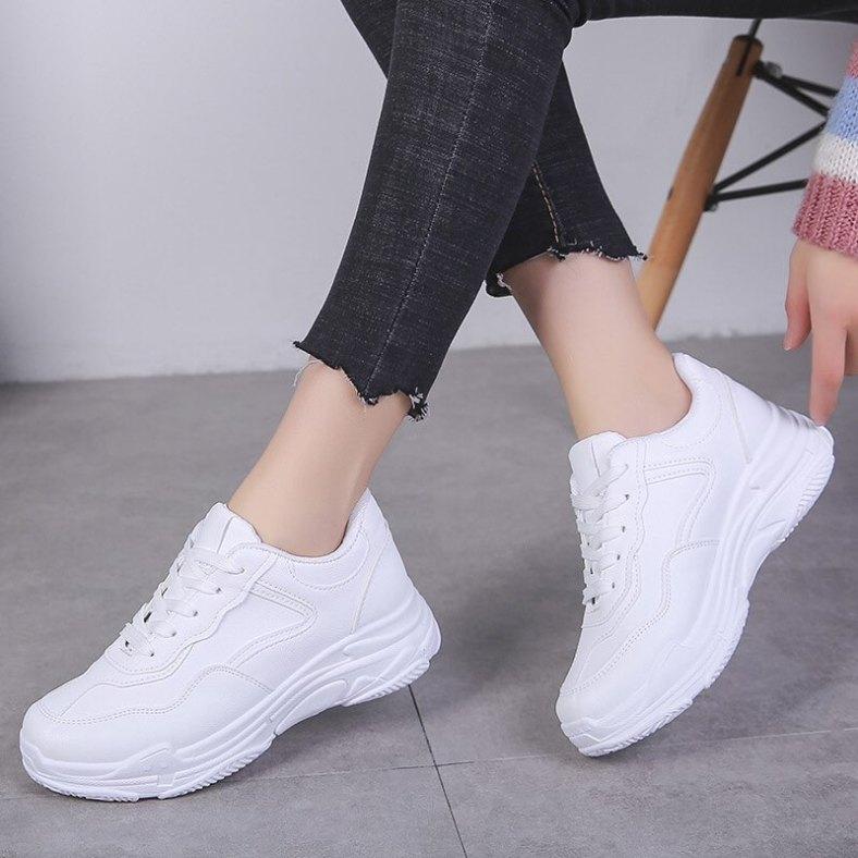Giày Thể Thao Nữ/ Giày Sneaker nữ/dép nữ, giay the thao nu, giày nữ/Giày thể thao nữ màu trắng/Giày thể thao nữ trắng tuyết cáo 4cm giá rẻ