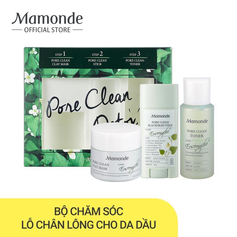 Bộ sản phẩm chăm sóc lỗ chân lông và sạch mụn dành cho da dầu Mamonde Pore Trial Kit giá rẻ