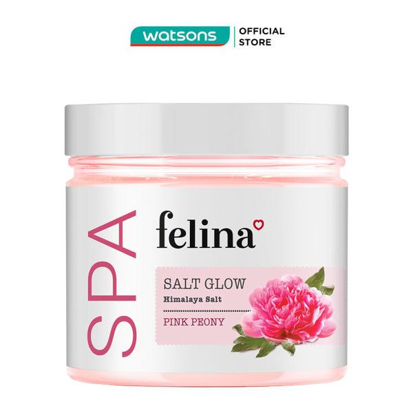 Muối Tắm Felina Salt Pink Peony Tẩy Tế Bào Da Chiết Xuất Mẫu Đơn 500g
