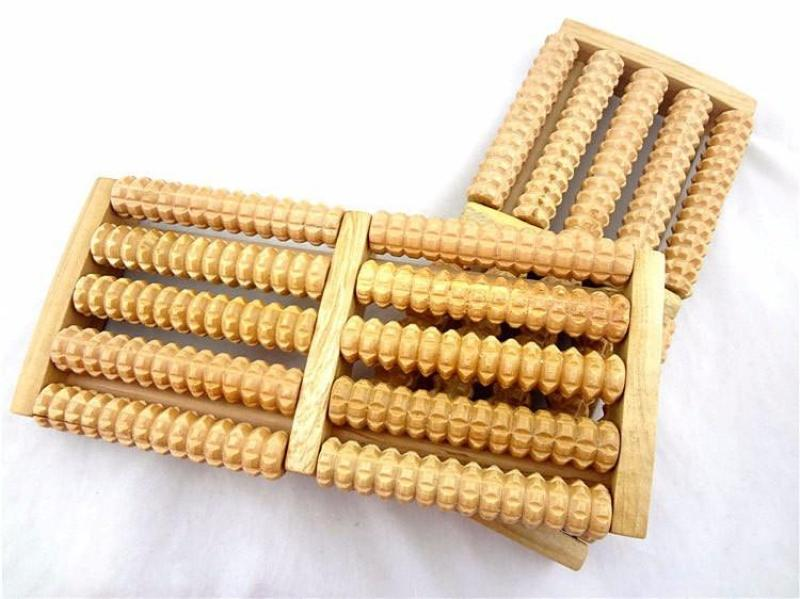 Dụng cụ massage chân 5 bàn bằng gỗ+tặng 2 giá đỡ điện thoai mini cao cấp