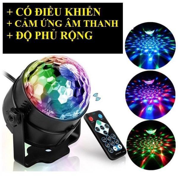 Đèn led xoay 7 màu vũ trường cảm ứng theo nhạc có điều khiển