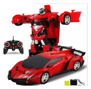 Đồ chơi cho bé Đồ chơi xe oto điều khiển từ xa biến hình siêu nhân dành cho bé trai màu sắc tươi sáng thumbnail