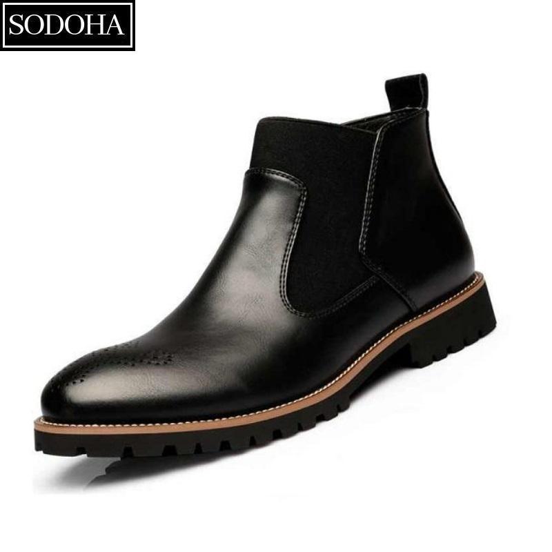Giày Tây Nam Cao Cấp SODOHA GTS199 Black