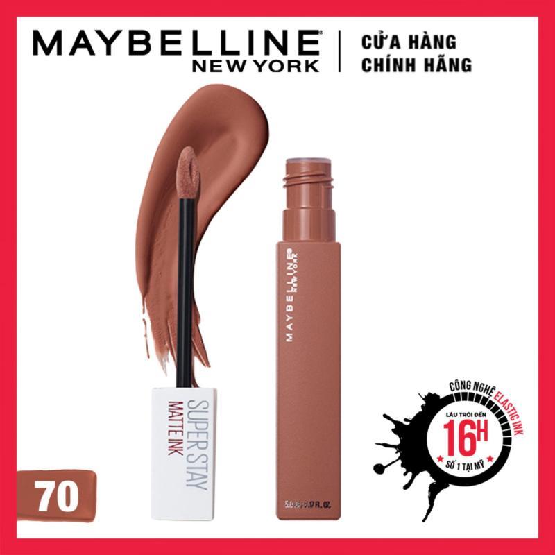 Son kem lì Maybelline Super Stay Matte Ink lâu trôi 16h Unnude cao cấp