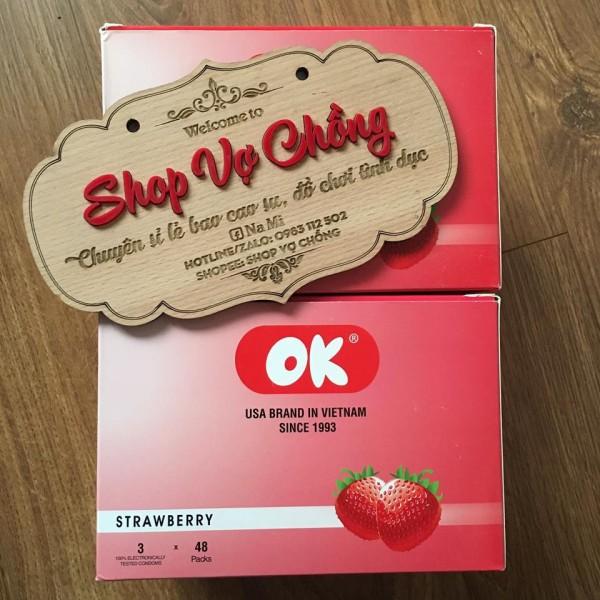 Combo 144 cái bao cao su Ok dâu tây, sản phẩm cam kết đúng như mô tả, chất lượng đảm bảo, an toàn sức khỏe người dùng