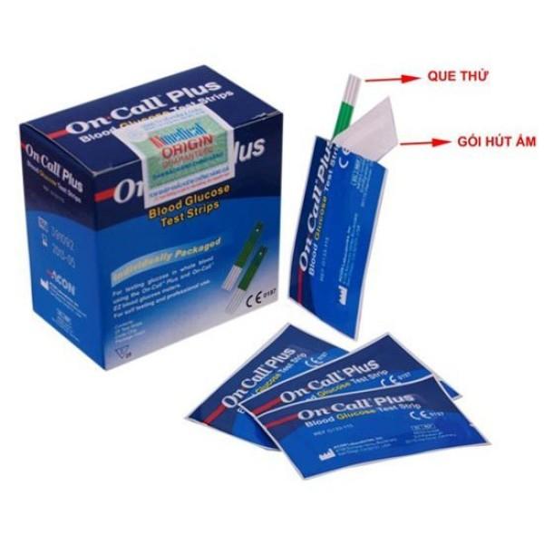 Nơi bán Que thử đường huyết máy on call plus (25 que rời), sản phẩm đa dạng, chất lượng tốt, đảm bảo an toàn sức khỏe người sử dụng