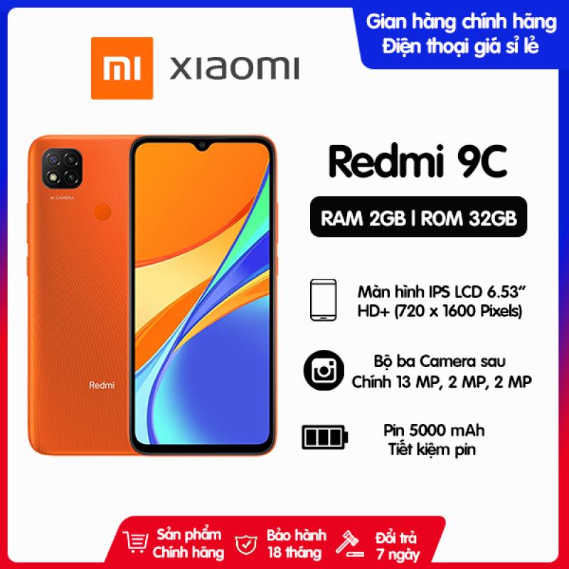 Điện thoại Xiaomi Redmi 9C 2GB/32GB| Hàng chính hãng, có sẵn tiếng việt, bảo hành 18 tháng [Điện thoại giá rẻ]