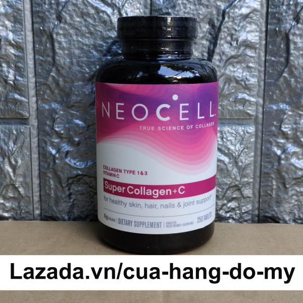 Viên uống Super collagen Neocell + C type 1, 3 250 viên, giúp đẹp da ngăn ngừa lão hóa