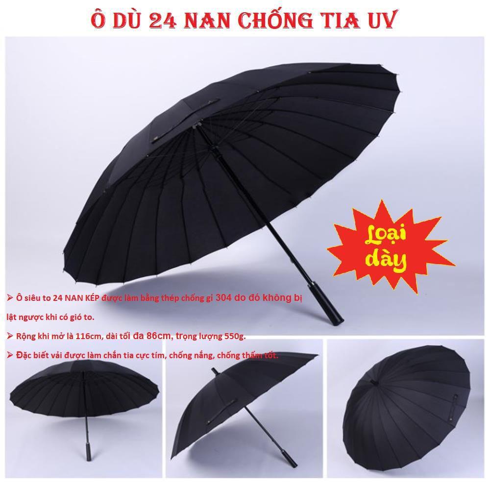 bán dù đi mưa tphcm, mũ ô che nắng, Ô Dù 24 Nan Đi Nắng Mưa Đẹp Cỡ Lớn Cán Dài - Đường Kính Rộng Đi Được 3 Người