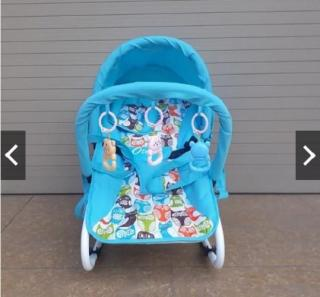 [siêu rẻ] Ghế rung cao cấp ăn bột cho bé - Có bảo hiểm + đồ chơi + mái che + điều chỉnh nằm ngồi thumbnail