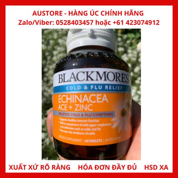 Viên uống tăng sức đề kháng, hỗ trợ trị cảm cúm Blackmores Echinacea ACE + Zinc 60 viên