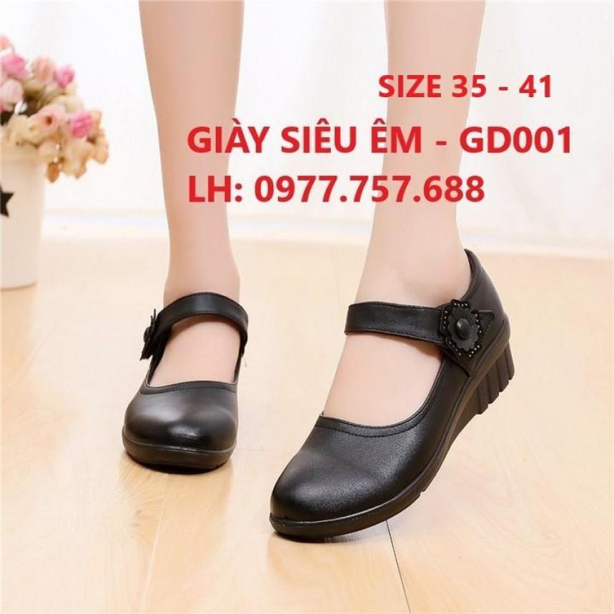 Giày đi bộ giày nữ 3p cho người trung niên ngoại cỡ người mập giá rẻ