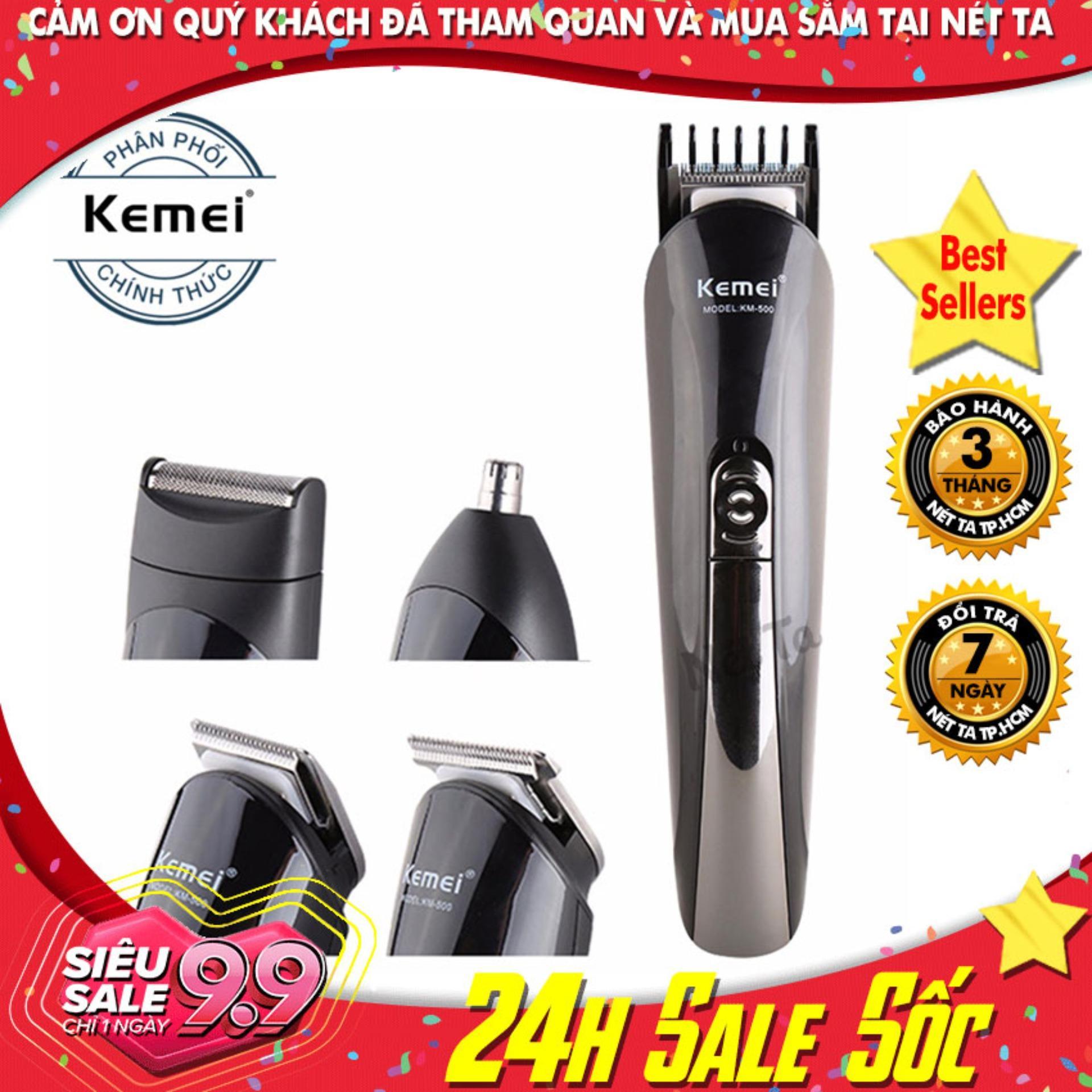 Tông đơ cắt tóc 4in1 Kemei KM-500 - Hãng phân phối chính thức chính hãng