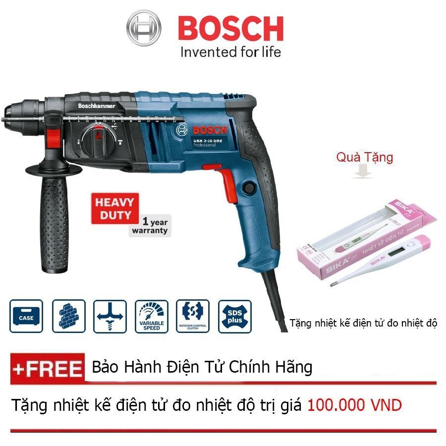 Máy khoan búa Bosch GBH 2-20 DRE + Quà tặng nhiệt kế điện tử