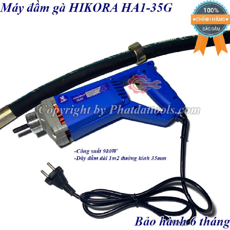 Máy đầm dùi betong cầm tay HIKORA HA1-35G-Công suất 980W-Kèm cả dây đầm 1m2-Bảo hành 6 tháng