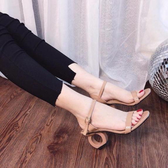 Giày nữ, giày cao gót nữ 5 phân, giày sandal cao gót mẫu mới PinkShopGiayDep giá rẻ