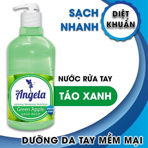Nước rửa tay diệt khuẩn hương táo xanh Angela 375g