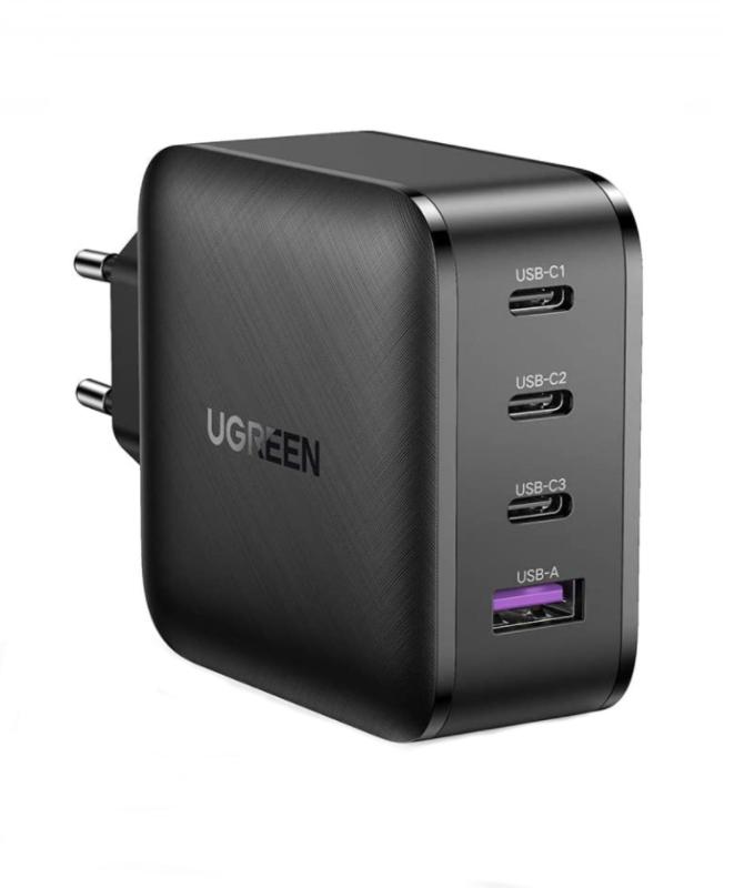 Củ sạc nhanh hỗ trợ 3 cổng USB type C PD và 1 cổng USB A UGREEN CD224 70774