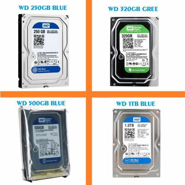Giá Ổ cứng WD 250gb / 500gb / 1TB,HDD Western ( Blue ) dùng cho Máy tính để bàn, ổ cứng camera . Bảo hành 2 năm.