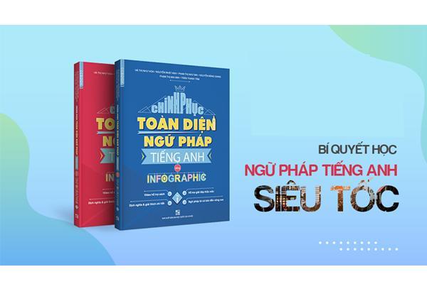 Mua Combo sách Chinh Phục Toàn Diện Ngữ Pháp Tiếng Anh Bằng Infographic (Tập 1 + Tập 2)