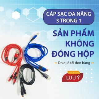 Dây Cáp Sạc đa năng 3 trong 1 hỗ trợ 3 Đầu Lightning - Micro USB - Type C, cáp sạc iphone, cáp sạc samsung, cáp sạc oppo 2