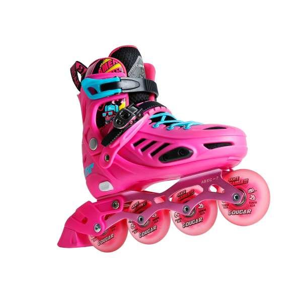 Mua Giày patin trẻ em Giày trượt Patin Cougar 313 8 bánh đèn led siêu sáng giày chỉnh được size bánh xe cao su cao cấp hot trend 2021 giày patin cougar 313 cougar 313 giày ba tin giày patin trẻ em dày trượt patingiày patin cougar